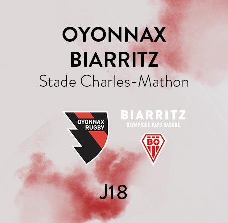 OYONNAX - BIARRITZ