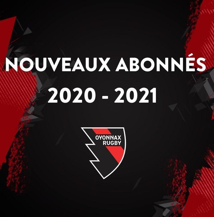 NOUVEAUX ABONNES 2020-2021