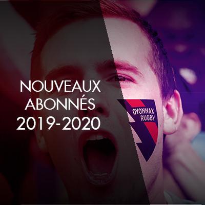 NOUVEAUX ABONNES 2019-2020