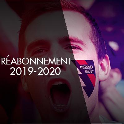 REABONNEMENT 2019-2020