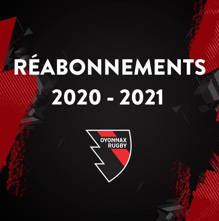 REABONNEMENT 2020-2021